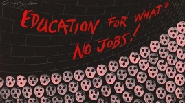 """Education For What? No Jobs!"" by Gerald Scarfe (1981)"