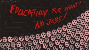 """""""Education For What? No Jobs!"""" by Gerald Scarfe (1981)"""