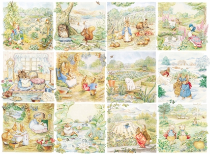 Beatrix Potter's panels.