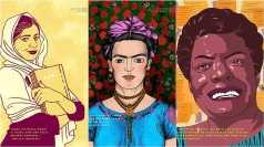Malala Yousafzai (by Sara Bondi), Frida Kahlo (by Helena Morais Soares), Maya Anoelou (by Thandiwe Tshabalala)