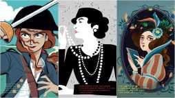 Jacqotte Delahaye (by Rita Petruccioli), Coco Chanel (by Karolin Schnoor), Ada Lovelace (by Elisabetta Stoinich)