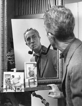 Norman Rockwell portrait, Clemens Kalischer