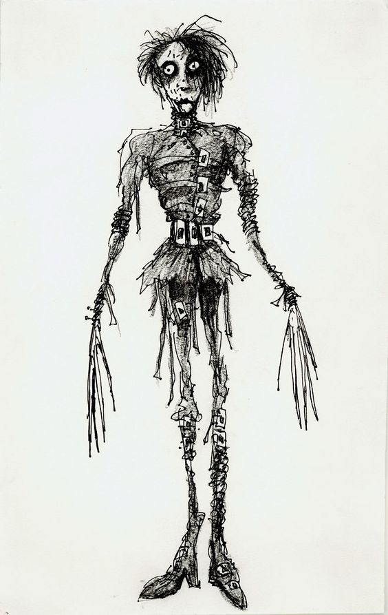 Edward Scissorhands concept art