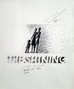 Saul Bass: Rejected design for The Shining poster. Photograph by Bobby Solomon.