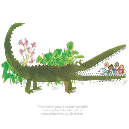 """The Enormous Crocodile"" Collector's edition print, Roald Dahl & Quentin Blake"